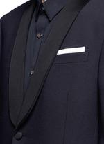 Satin lapel tuxedo blazer