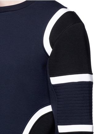 细节 - 点击放大 - NEIL BARRETT - 车缝线拼色太空棉卫衣