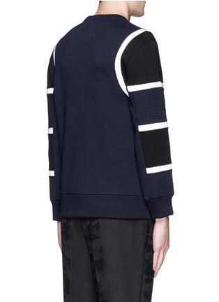 背面 - 点击放大 - NEIL BARRETT - 车缝线拼色太空棉卫衣
