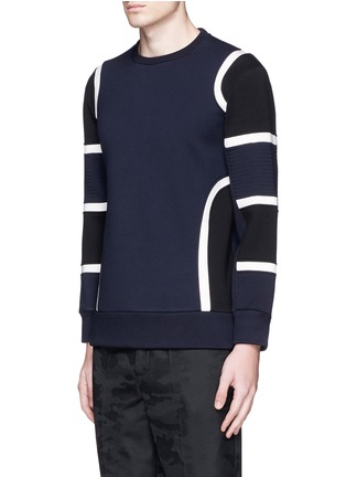正面 -点击放大 - NEIL BARRETT - 车缝线拼色太空棉卫衣