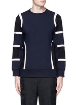 Colourblock bonded jersey sweatshirt