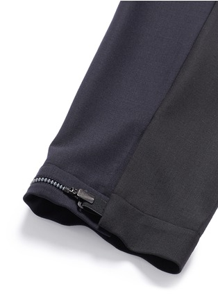 细节 - 点击放大 - NEIL BARRETT - 拼色混羊毛长裤
