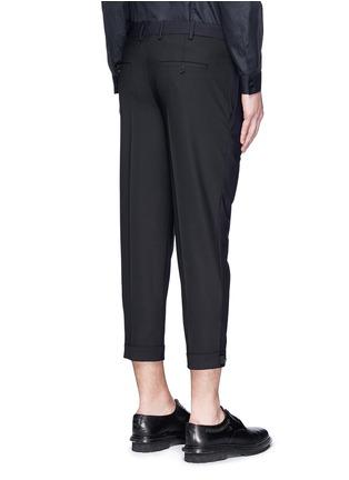 背面 - 点击放大 - NEIL BARRETT - 拼色混羊毛长裤