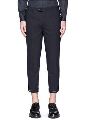 首图 - 点击放大 - NEIL BARRETT - 拼色混羊毛长裤