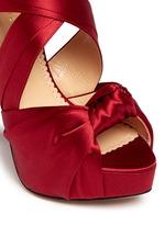 'Andrea' silk satin platform sandals