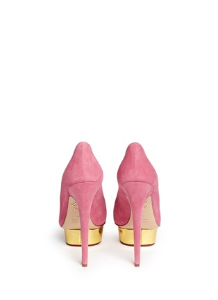 Charlotte Olympia - 'Dolly' suede platform pumps
