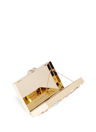 Detail View - Click To Enlarge - Charlotte Olympia - 'Andy's Inheritance' jewel appliqué box clutch