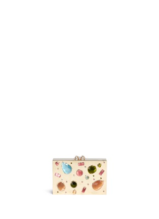 Main View - Click To Enlarge - Charlotte Olympia - 'Andy's Inheritance' jewel appliqué box clutch