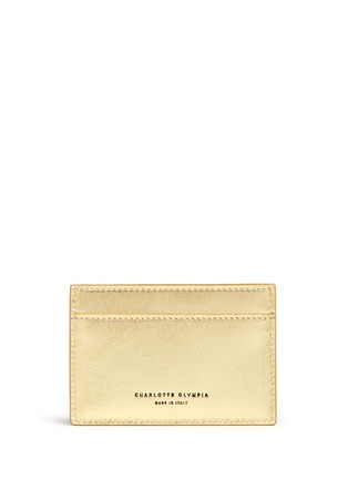 Figure View - Click To Enlarge - Charlotte Olympia - 'Feline' cat face leather card holder