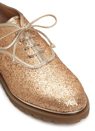 Detail View - Click To Enlarge - Charlotte Olympia - 'Stefania' glitter Oxfords