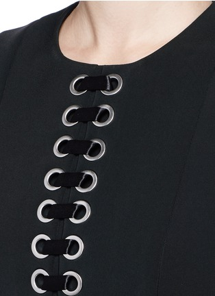 Detail View - Click To Enlarge - Alexander Wang  - Lace-up peplum shell top