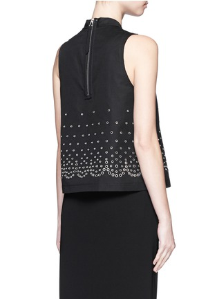 Back View - Click To Enlarge - Alexander Wang  - Eyelet cotton-linen canvas shell top