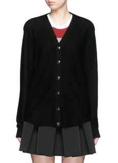 ALEXANDER WANG Cellophane stripe wool-cashmere cardigan