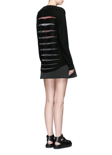 ALEXANDER WANG  Cellophane stripe wool-cashmere cardigan