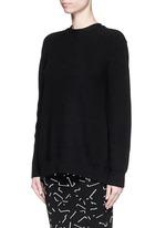 Open back cotton blend sweater