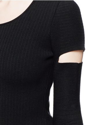 Alexander Wang  - Slit sleeve stretch knit sweater
