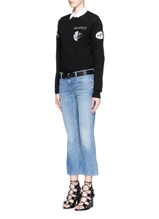 ALEXANDER WANG  Barcode patch wool-cashmere blend sweater