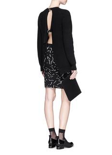 ALEXANDER WANG Shadow Line jacquard ponte knit pencil skirt
