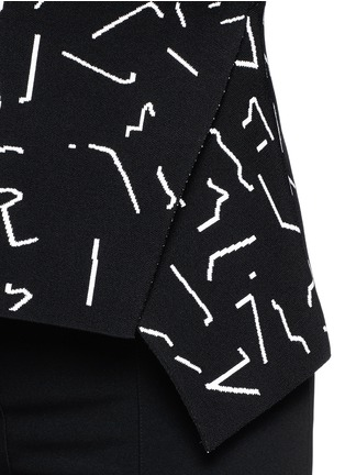 Detail View - Click To Enlarge - Alexander Wang  - Shadow Line jacquard peplum top