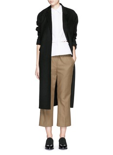 ALEXANDER WANG Leather buckle cropped pants