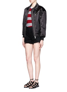 ALEXANDER WANG  Tubular stripe crew neck tank top