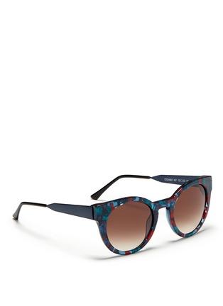 THIERRY LASRY-CREAMILY多彩花纹圆框太阳眼镜