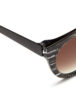 Thierry Lasry - 'Creamily' stripe acetate metal temple sunglasses
