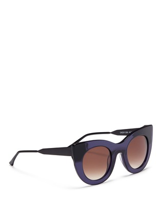 Figure View - Click To Enlarge - Thierry Lasry - 'Cheeky' matte temple acetate cat eye sunglasses