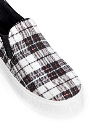 Detail View - Click To Enlarge - Pedder Red - 'Sam' tartan plaid platform skate slip-ons