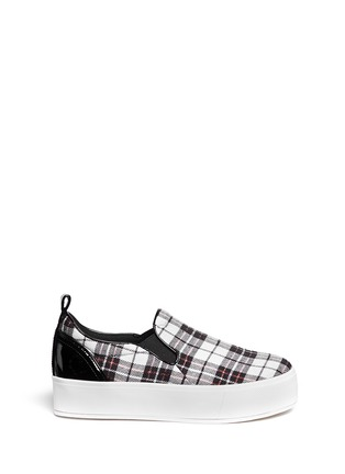Main View - Click To Enlarge - Pedder Red - 'Sam' tartan plaid platform skate slip-ons