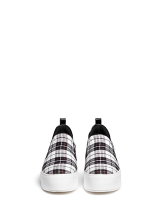 Figure View - Click To Enlarge - Pedder Red - 'Sam' tartan plaid platform skate slip-ons