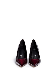 PEDDER RED 'Charlie' contrast heel patent leather pumps