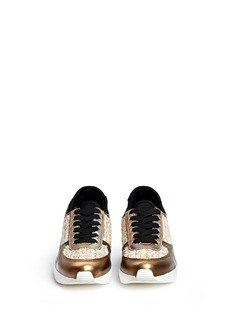 PEDDER RED'Louie' bouclé tweed leather combo sneakers
