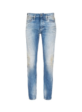 Main View - Click To Enlarge - Denham - 'Razor' distressed slim fit jeans