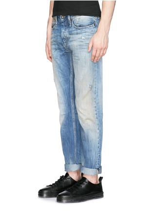 Figure View - Click To Enlarge - Denham - 'Razor' distressed slim fit jeans