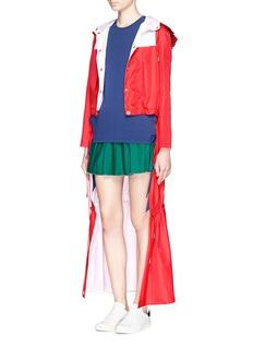 ANNA KLong train hooded nylon jacket
