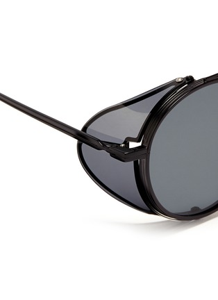 Detail View - Click To Enlarge - ANDERNE - 'Cloud No 9' acetate blinker round metal sunglasses