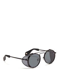 ANDERNE'Cloud No 9' acetate blinker round metal sunglasses