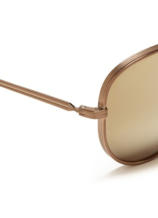 Detail View - Click To Enlarge - ANDERNE - 'Fly With Me' incised aviator sunglasses