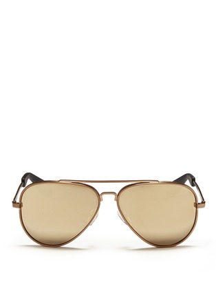 Main View - Click To Enlarge - ANDERNE - 'Fly With Me' incised aviator sunglasses