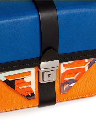 Detail View - Click To Enlarge - MSGM - Acetate wing colourblock leather bag