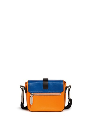 Back View - Click To Enlarge - MSGM - Acetate wing colourblock leather bag