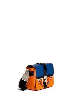 Front View - Click To Enlarge - MSGM - Acetate wing colourblock leather bag