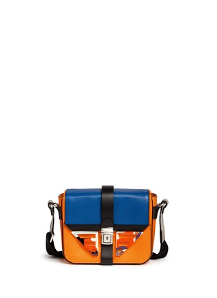 Main View - Click To Enlarge - MSGM - Acetate wing colourblock leather bag