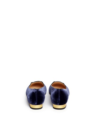 Back View - Click To Enlarge - Charlotte Olympia - 'Kitty' velvet flats