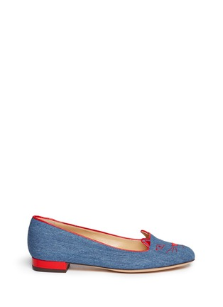 首图 - 点击放大 - CHARLOTTE OLYMPIA - 'Kitty' denim flats
