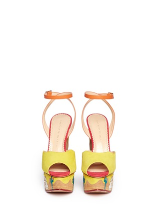 Figure View - Click To Enlarge - Charlotte Olympia - 'Wild, Wild Wedge' suede platform sandals