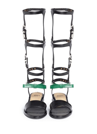 Figure View - Click To Enlarge - TOGA ARCHIVES - Western buckle detachable gladiator sandals