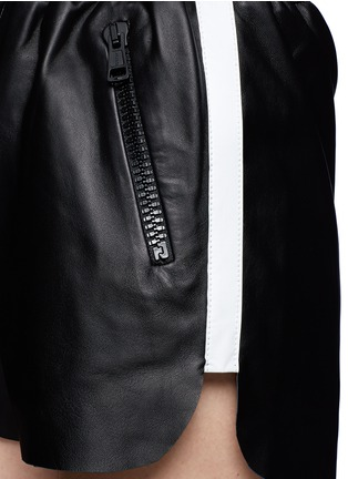 Detail View - Click To Enlarge - Acne Studios - Side-trim leather shorts