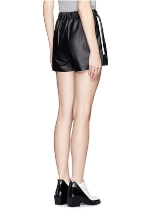 Back View - Click To Enlarge - Acne Studios - Side-trim leather shorts
